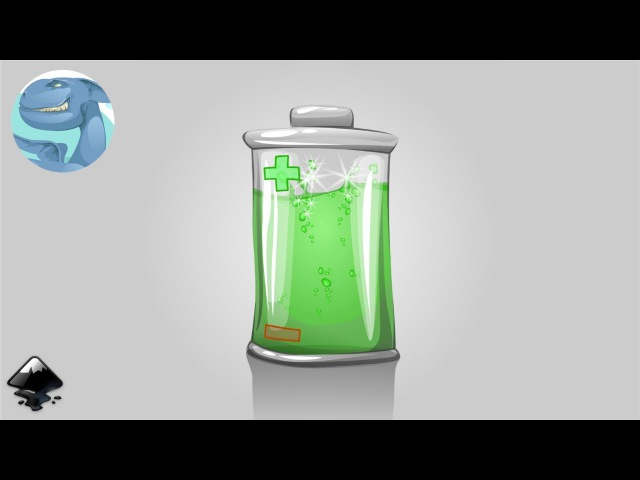 How to draw a battery in Inkscape