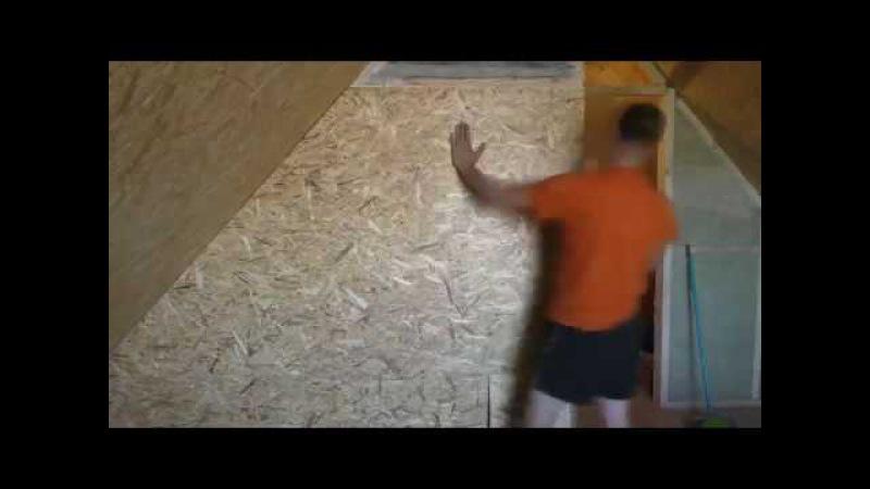 Перегородка на 2-ом этаже в деревянном доме