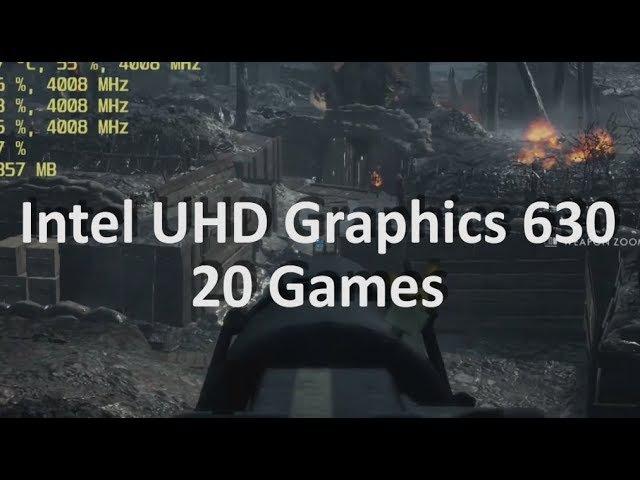 Gaming On Intel UHD Graphics 630 Part 1. i3-8100, i3-8350K, i5-8400, i5-8600K, i7-8700, i7-8700K