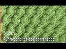Punto panal de abejas 3D trenzado tejido a crochet Tejiendo Perú