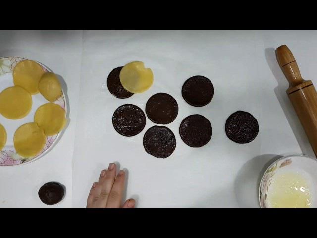 İki renkli kurabiye kurabiye şekilleri