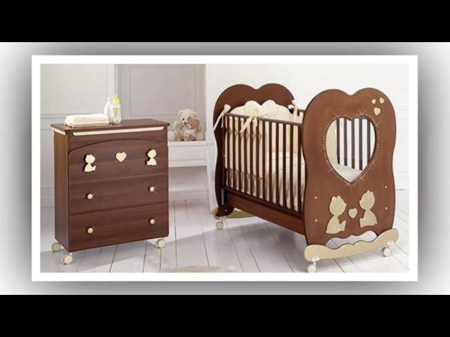 Детская кроватка фото/ Идеи кровати для новорожденных с местом для пеленания