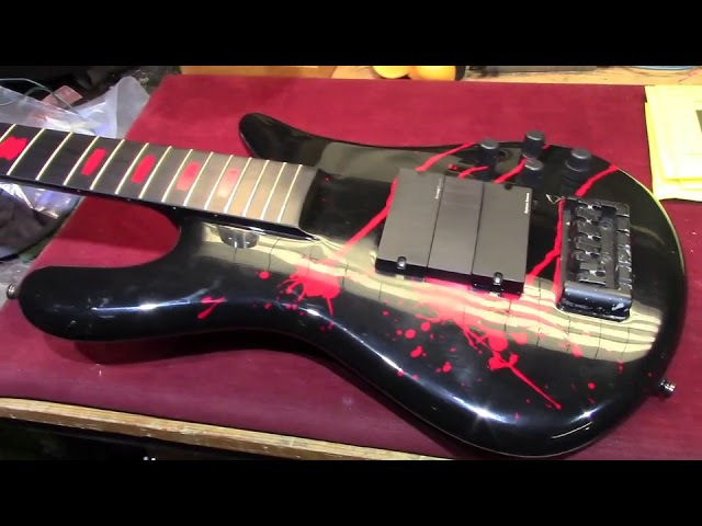 Alex Webster (Cannibal Corpse) AW Model Spector 5 String Bass 2