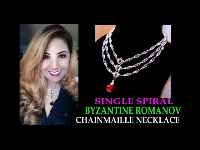 SINGLE SPIRAL AND BYZANTINE ROMANOV CHAINMAILLE NECKLACE TUTORIAL