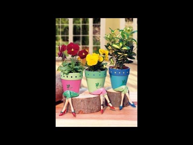 Lovely ideas from pots for plants. Милые идеи из горшков для растений