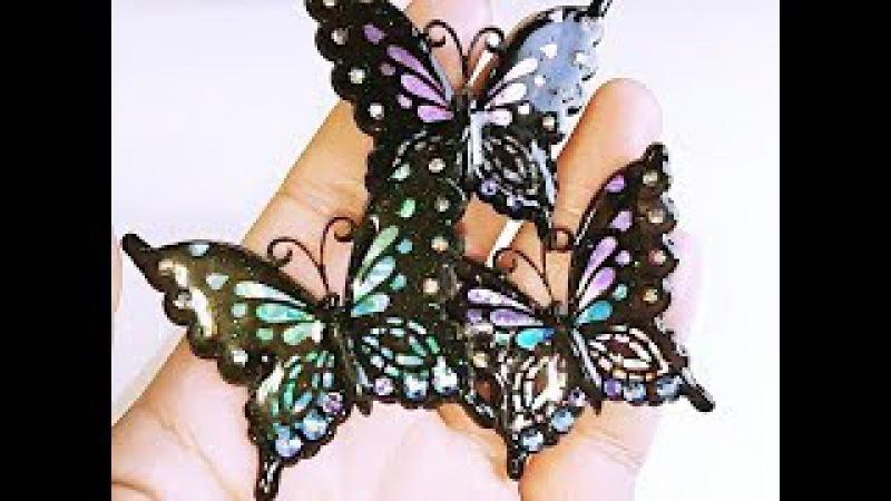 UVレジン セリアの薄型モールドで蝶を作ってみた *´∇`* resin