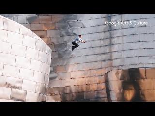 Bending Gravity at the Museum Guggenheim Bilbao