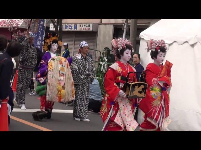 [ English Explanation ] Edo Yoshiwara OIRAN Dochu(Procession)@ICHIYO SAKURA MATSURI2016