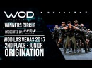 OrigiNation 2nd Place Junior Winners Circle World of Dance Las Vegas 2017 WODLV17