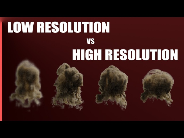 Smoke Resolution Comparison with Blender