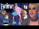 DOG POOPS All Over Girls American Idol Dream! SHOCK AUDITION! Idols global