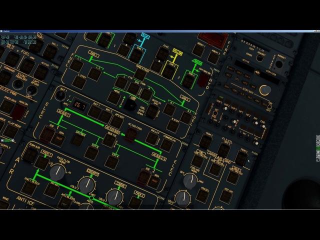 X plane JARDesign Airbus A330 Cold and dark LOWW LOWI