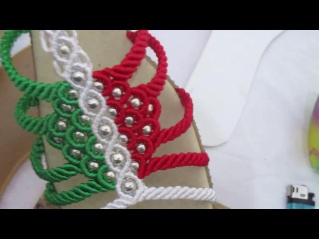 Como tejer sandalia macrame cerrada herramientas y materiales 1 de 12
