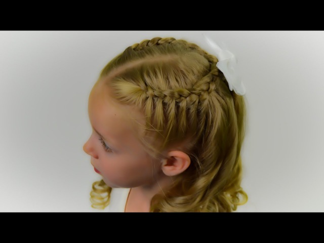 CUTE QUICK EASY BACK TO SCHOOL HAIRSTYLE. Quick and Easy hairstyle for little pricess 38