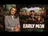 Remembering First Encounters - Eddie Redmayne and Maisie Williams. Early Man Interviews
