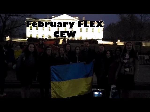 Ukrainians singing song near the White House