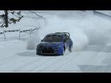Mitsubishi Lancer Evolution EVO X 4x4 валит по снегу &amp Rally in the snow &amp Зрелищное ралли по снегу