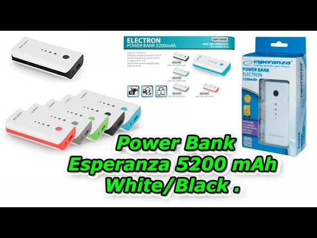 Power Bank Esperanza 5200 mAh White/Black