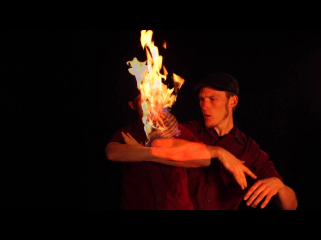 Fire Contact Juggling by Jeremiah Johnston