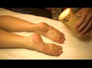 Wow Paraffin Wax Asmr! Amazing Hot Candles Feet Reflexology on Massage Points.