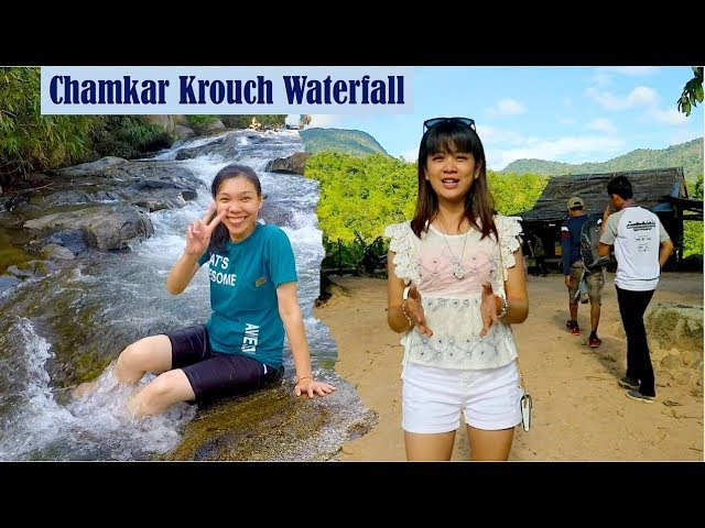 Visit Chamkar Krouch Waterfall at Amleang Commune in Kampong Speu Province