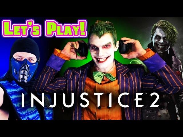 THE JOKER PLAYS - INJUSTICE 2 Multiverse Arcade Ending (W/ SUB-ZERO) | MKX VS DC GAMEPLAY PARODY!
