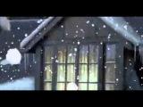 Футаж для видеомонтажа   зима, снег, домик в лесу
