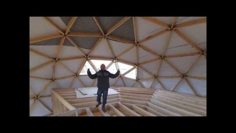 Перекрытие второго этажа. Купольный дом в Евпатории.