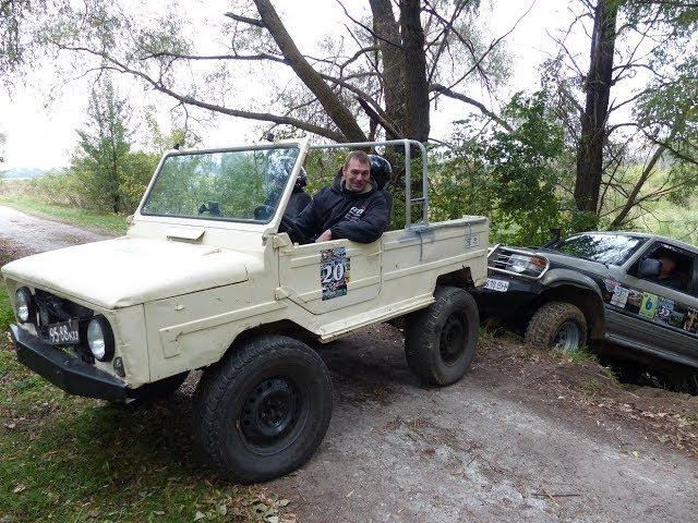 850 кг против 2 5 тонн ЛуАЗ СПАСАЕТ Mitsubishi Pajero 2 off road 4x4