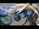 Real or Clay? EASY Realistic Polymer Clay Blueberry Method! Fake Food Polymer Clay Cane Tutorial