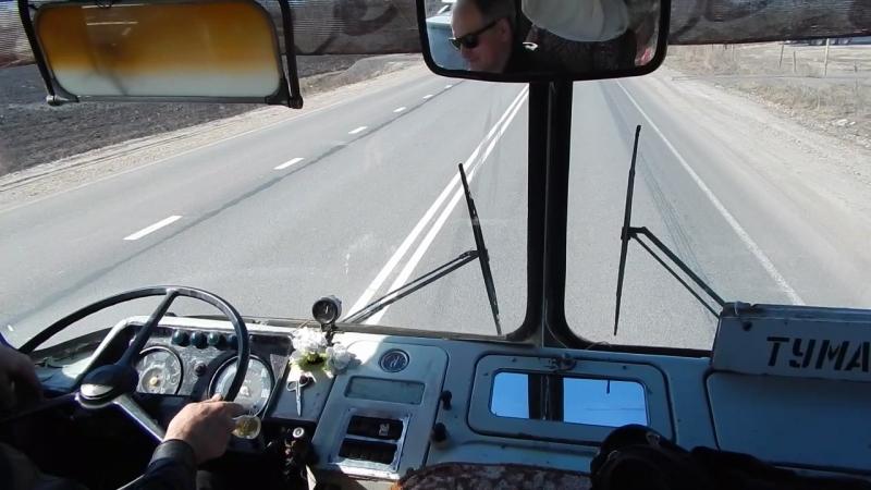 Поездка на ЛиАЗ-677М (АМ 810 52), короткая часть