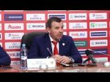Олег Знарок и Павел Дацюк по итогам матча Россия - Беларусь