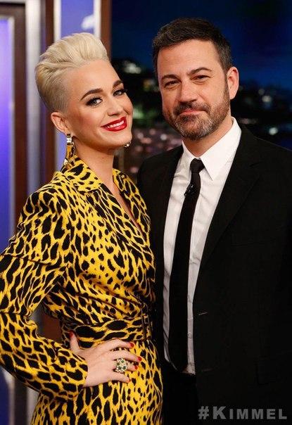 Кэти Перри посетила вечернее шоу «Jimmy Kimmel Live», где рассказала про судейство в «American Idol».