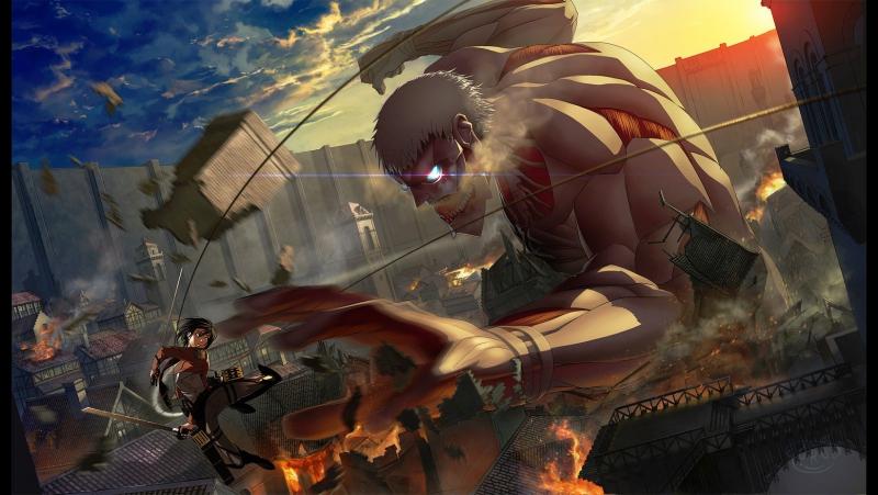 осу атака титанов