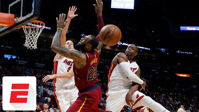 Dwyane Wade blocks LeBron James twice in Heat's dominant win over Cavs ESPN