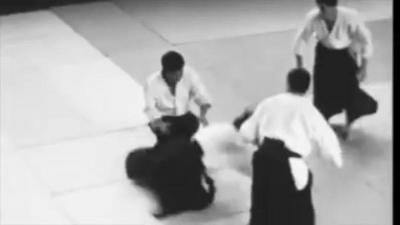 Tamura Sensei's 1965 outstanding Hanmi Handachi Aikido Randori against several uke.