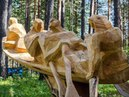 068 Парк деревянные скульптуры России Park wooden sculpture carving резьба по дереву бензопилой арт