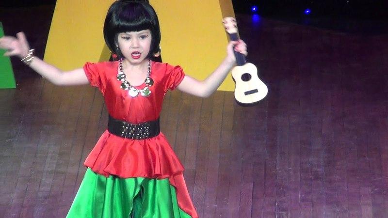 Лидия Избенко -творческий номер Бяки-буки Атаманша из м/ф Бременские музыканты, детский конкурс