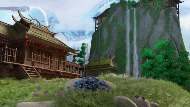 Кунг-Фу Панда Деревня Панд Анимация Kung Fu Panda Panda Village Recreation
