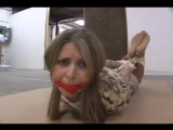 BoundHub - Maya Hogtied n Cleave Gagged in Pantyhose