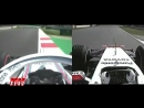 Spain FP1 Kubica 2018 vs Trulli 2007 Onboard