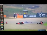 World superbikes red flag lean Camier get runs over