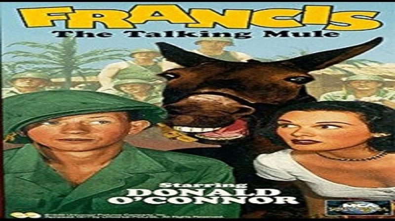 1950 Francis The Talking Mule -Arthur Lubin - Donald OConnor, Patricia Medina, Lori Nelson, Alice Kelley, , Ray Collins
