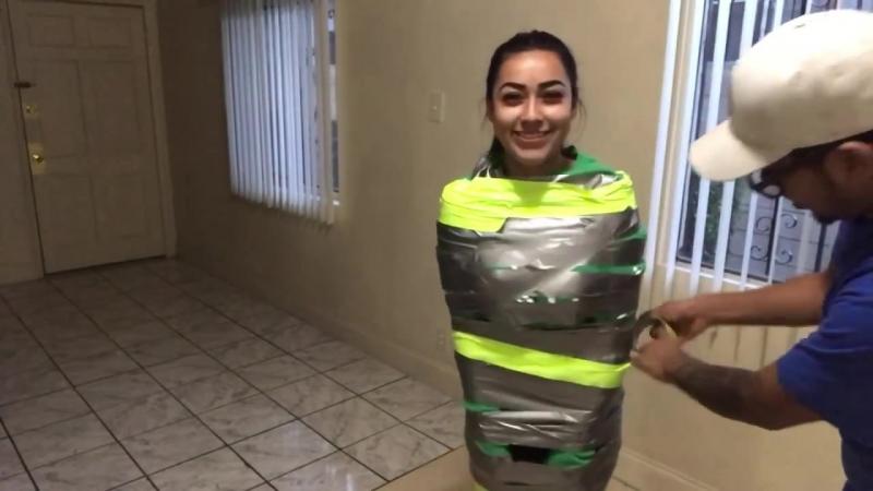 100 layers of duck tape challenge! Ft. Boyfriend