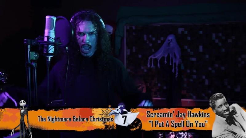 Музыкант Энтони Винсент исполнил 12 песен в стиле мультфильма «Кошмар перед Рожд