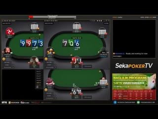 GG Poker Network Seansı , 4 masa Teksas Holdem Canlı Poker - SekaPoker TV