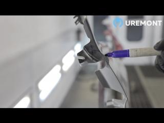Uremont «Кузовные». 3 степени повреждений переднего крыла автомобиля.