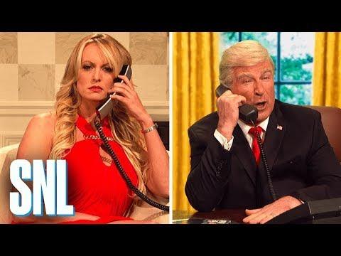 Stormy Daniels makes surprise SNL appearance with message for Donald Trump