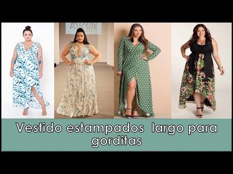 Vestido Largo Estampado ✿MODA PARA GORDITAS♥