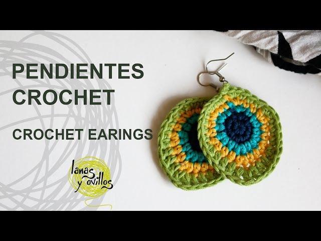 Tutorial Pendientes o Aros Crochet o Ganchillo
